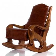 Кресло-качалка Классика светлый орех с подушкой