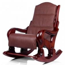 Кресло-качалка Классика махагон с подушкой