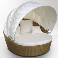ОРИОН лежанка с подушками и тентом