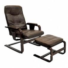 Кресло для отдыха с механизмом в комплекте с пуфом
